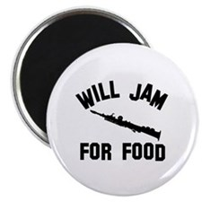 Will jam or play the Soprano Sax for food Magnet