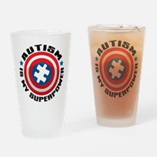 Autism Shield Drinking Glass