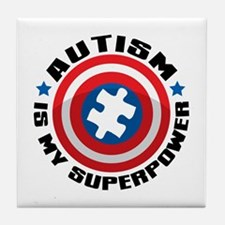 Autism Shield Tile Coaster