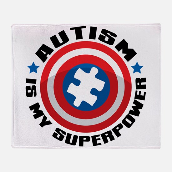 Autism Shield Throw Blanket