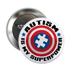 "Autism Shield 2.25"" Button"