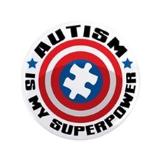 "Autism Shield 3.5"" Button"