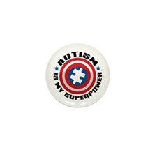 Autism Shield Mini Button