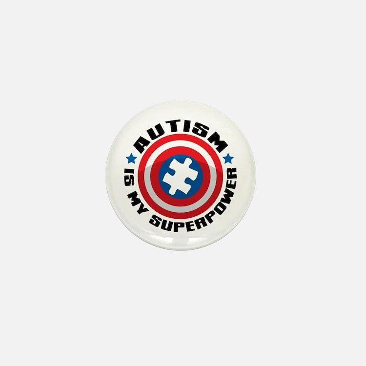Autism Shield Mini Button