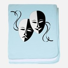 Theater Masks baby blanket