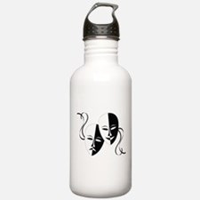 Theater Masks Water Bottle