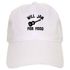 Will jam or play the Ukelele for food Baseball Cap