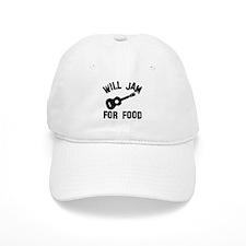 Will jam or play the Ukelele for food Baseball Cap