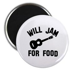 Will jam or play the Ukelele for food Magnet