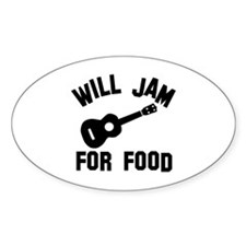Will jam or play the Ukelele for food Decal