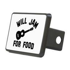 Will jam or play the Ukelele for food Hitch Cover