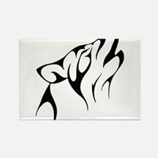 Wolf outline Rectangle Magnet