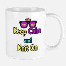 Crown Sunglasses Keep Calm And Knit On Mug