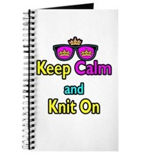 Crown Sunglasses Keep Calm And Knit On Journal