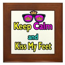 Crown Sunglasses Keep Calm And Kiss My Feet Framed