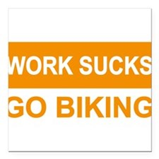 "biking Square Car Magnet 3"" x 3"""