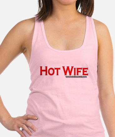 Hot Wife Red Racerback Tank Top