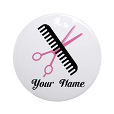 Personalized Stylist Ornament (Round)
