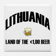 Lithuanian Beer Ceramic Coaster