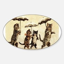 Cats, Vintage Painting Decal