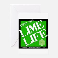 Livin' the Lime Life Logo Greeting Card