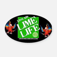 Livin' the Lime Life Logo Oval Car Magnet