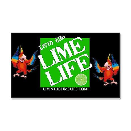 Livin' the Lime Life Logo Car Magnet 20 x 12