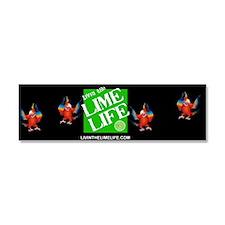 Livin' the Lime Life Logo Car Magnet 10 x 3