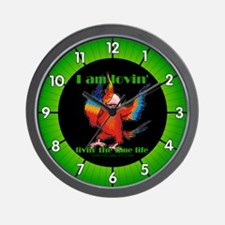 Livin' the Lime Life Logo Wall Clock