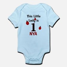 This Little Lady is 1 - NYA CUSTOM Body Suit