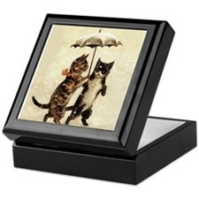 Cats, Vintage Painting Keepsake Box