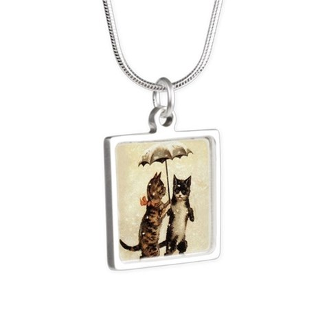Cats, Vintage Painting Necklaces