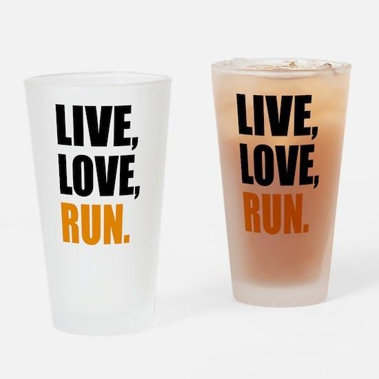 run Drinking Glass