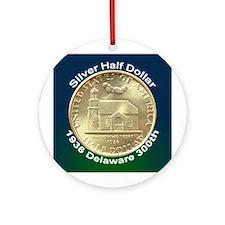 Delaware Tercentenary Coin Ornament (Round)