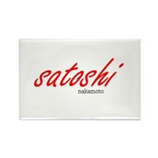 Satoshi Red Rectangle Magnet (10 pack)