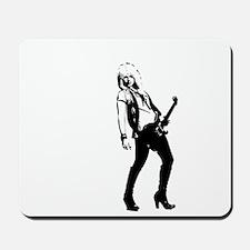 sexy guitar lady Mousepad