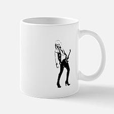 sexy guitar lady Mug