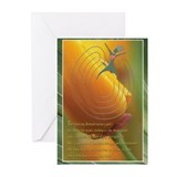 Dancing woman labyrinth Greeting Cards (10 Pack)