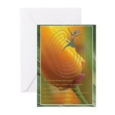 dwposterheartlrger.JPG Greeting Cards (Pk of 10)