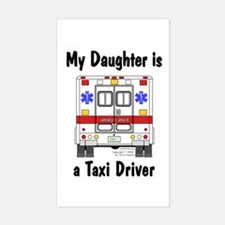 Taxi Driver Daughter Rectangle Decal