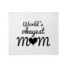 World's Okayest Mom Stadium Blanket
