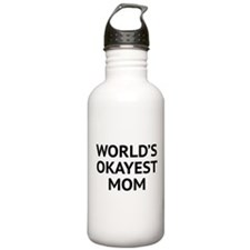World's Okayest Mom Water Bottle