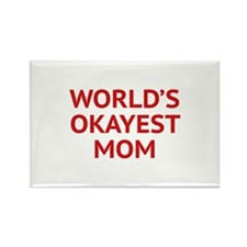 World's Okayest Mom Rectangle Magnet (10 pack)