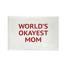 World's Okayest Mom Rectangle Magnet (100 pack)