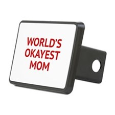World's Okayest Mom Hitch Cover