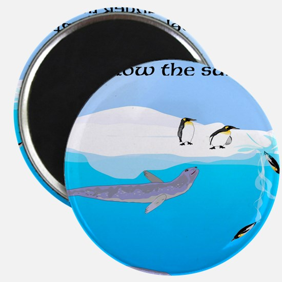 """Leopard Seal Penguins and Ice 2.25"""" Magnet (10 pac"""