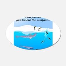 Leopard Seal Penguins and Ice Wall Decal