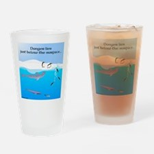 Leopard Seal Penguins and Ice Drinking Glass