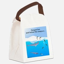 Leopard Seal Penguins and Ice Canvas Lunch Bag