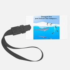 Leopard Seal Penguins and Ice Luggage Tag
